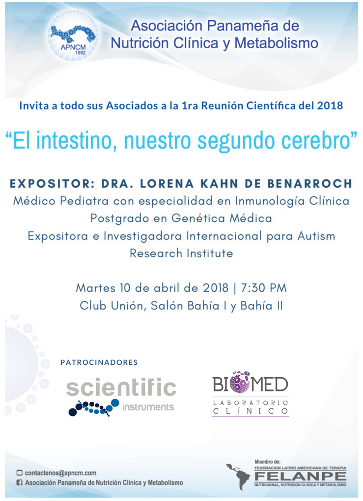 Tarjeta De Invitación 1ra Reunion Cientifica Apncm